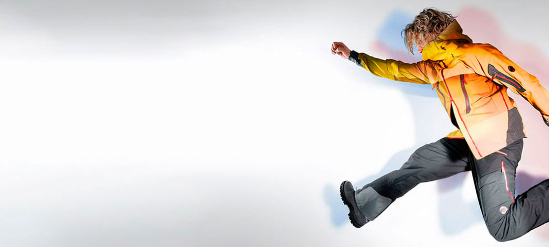 sportovní bunda a kalhoty z elastického materiálu schoeller